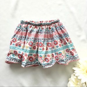 Other - Girls 3T Floral Aztec Skirt